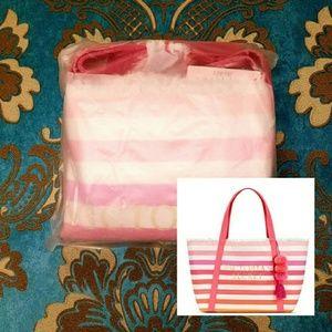 Victoria's Secret Limited Edition Striped Tote NWT